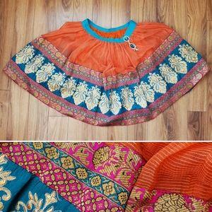 Handmade Vintage Embellished Indian Circle Skirt
